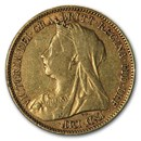 Australia Gold 1/2 Sovereign Victoria Avg Circ (Old Head)