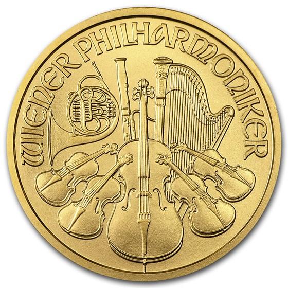 Austria 1/2 oz Gold Philharmonic BU (Random Year)