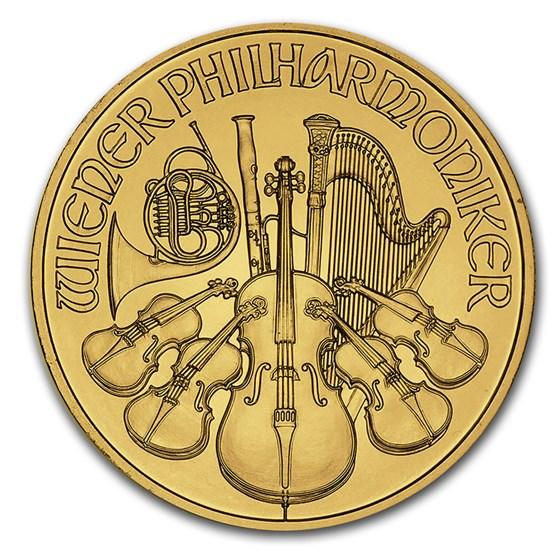 Austria 1/4 oz Gold Philharmonic BU (Random Year)