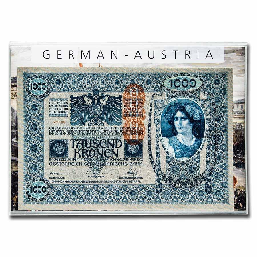 Austria 1000 Kronen 9-Language Banknote