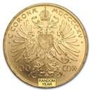 Austria Gold 100 Coronas (Random) BU