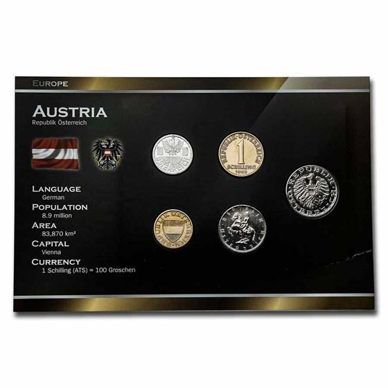 Austria Pre-Euro 5-Coin Set BU