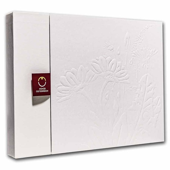 Austrian Mint The Language of Flowers Collector Case w/ Book