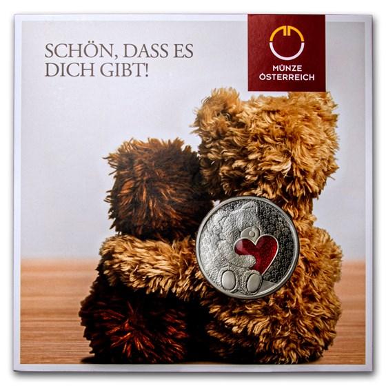 Austrian Teddy Bear Round (Red Heart w/Zirconia)