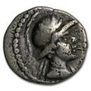 Bactria, Eucratides Silver AR Obol (171-135 BC) Fine