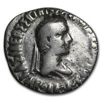 Bactria Indo-Greeks AR Drachm Apollodotus II (85-65 BC) VG-XF