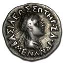 Bactria Indo-Greeks AR Drachm Menander (165/55-130 BC) VF