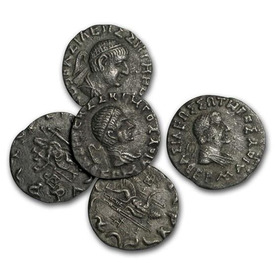 Bactria Kingdom AR Tetradrachm Hermaios Soter (105-90 BC) VF