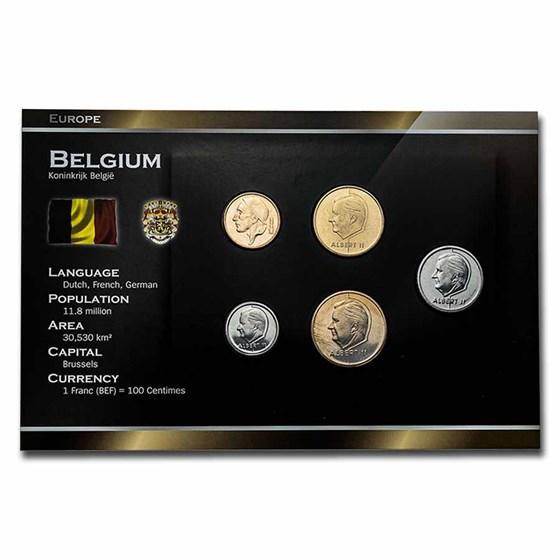 Belgium Pre-Euro 5-Coin Set BU