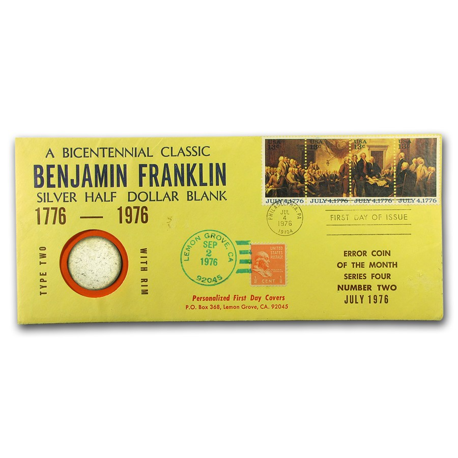 Benjamin Franklin Silver Half Dollar Blank Planchet - Type Two