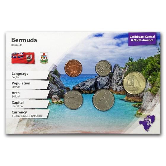 Bermuda 1 Cent - 1 Dollar 5-Coin Set BU (Landscape Packaging)