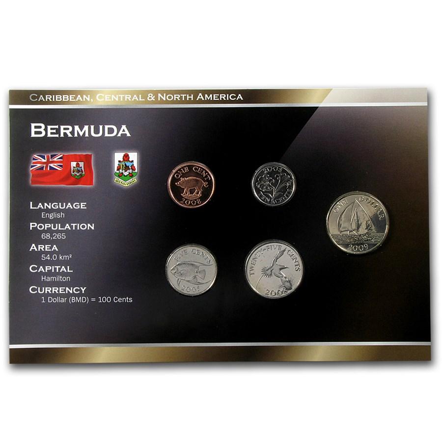 Bermuda 1 Cent-1 Dollar 5 Coin Set Unc