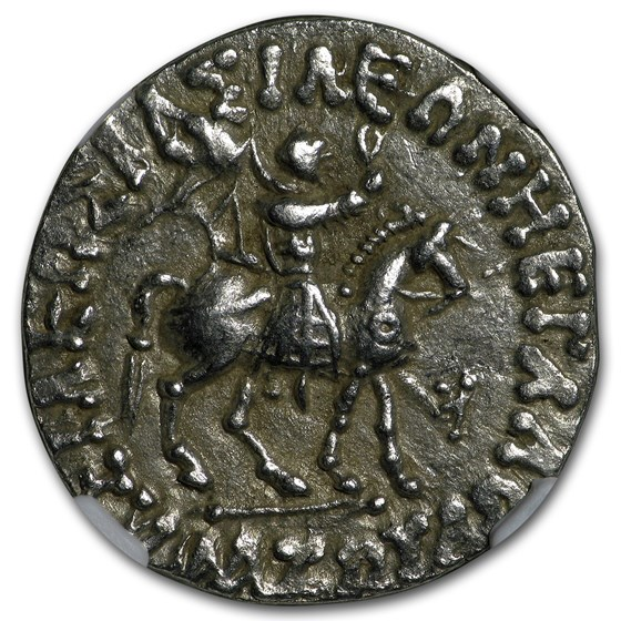 Biblical Indo Scythian AR Tetradrachm Athena XF NGC (35 BC-5 AD)