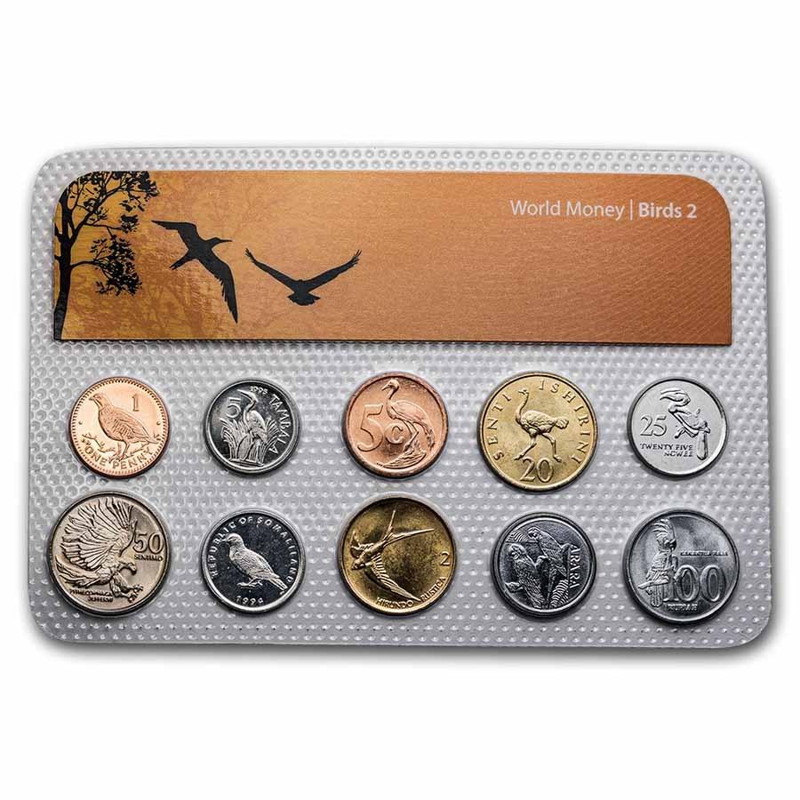 Bird Coins from Around the World 10-Coin Set BU