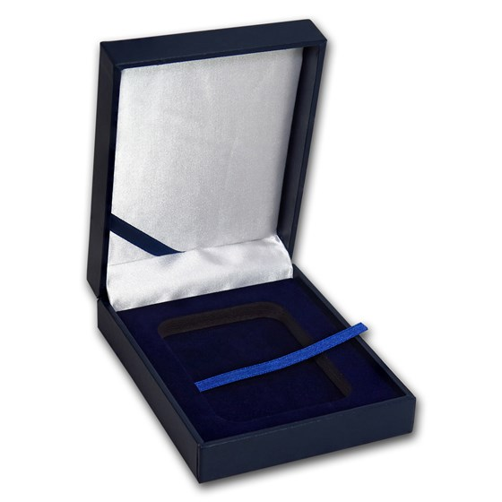 Blue Leatherette Display Box - Single Slab