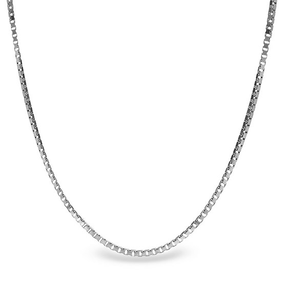 Box Chain Sterling Silver Necklace - 20 in.