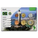 Brazil 1 Centavo - 1 Real 6-Coin Set BU (Landscape Packaging)