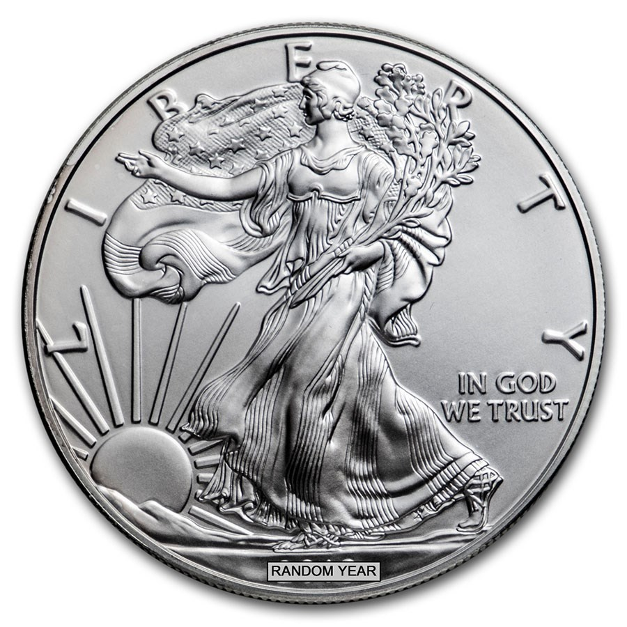 Burnished American Silver Eagle (Random Year, w/Box & COA)