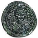 Byzantine 40 Nummi Justinian I (527-565 AD) AU NGC