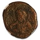 Byzantine Anonymous AE Follis Emp Romanus III (1028-1042 AD) NGC