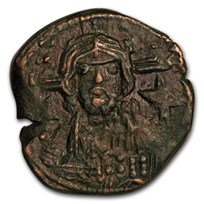 Byzantine Anonymous Follis Christ Bust (976-1081 AD) VF-XF