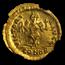 Byzantine AV Semissis Maur. Tiberius (582-602 AD) MS NGC