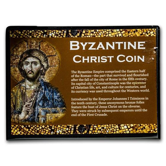 Byzantine Bronze Folles Christ Coin Album