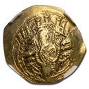 Byzantine EL/AV Hyperpyron Michael VIII (1261-1282 AD) AU NGC