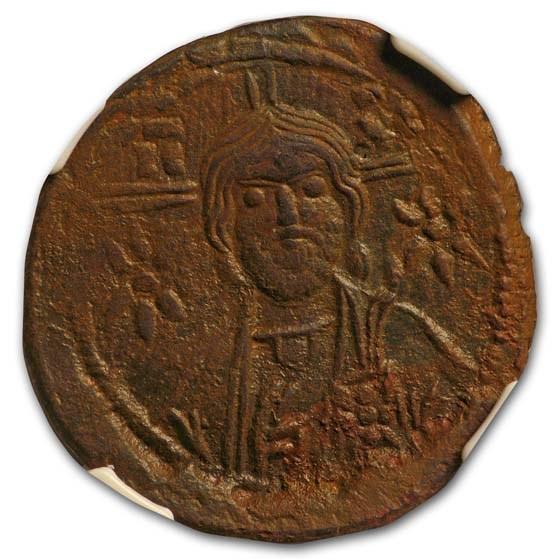 Byzantine Empire AE Follis Michael VII (1071-1078 AD) Ch XF NGC