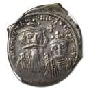 Byzantine Empire AR Hexagram Constans II (654-668 AD) Ch XF NGC