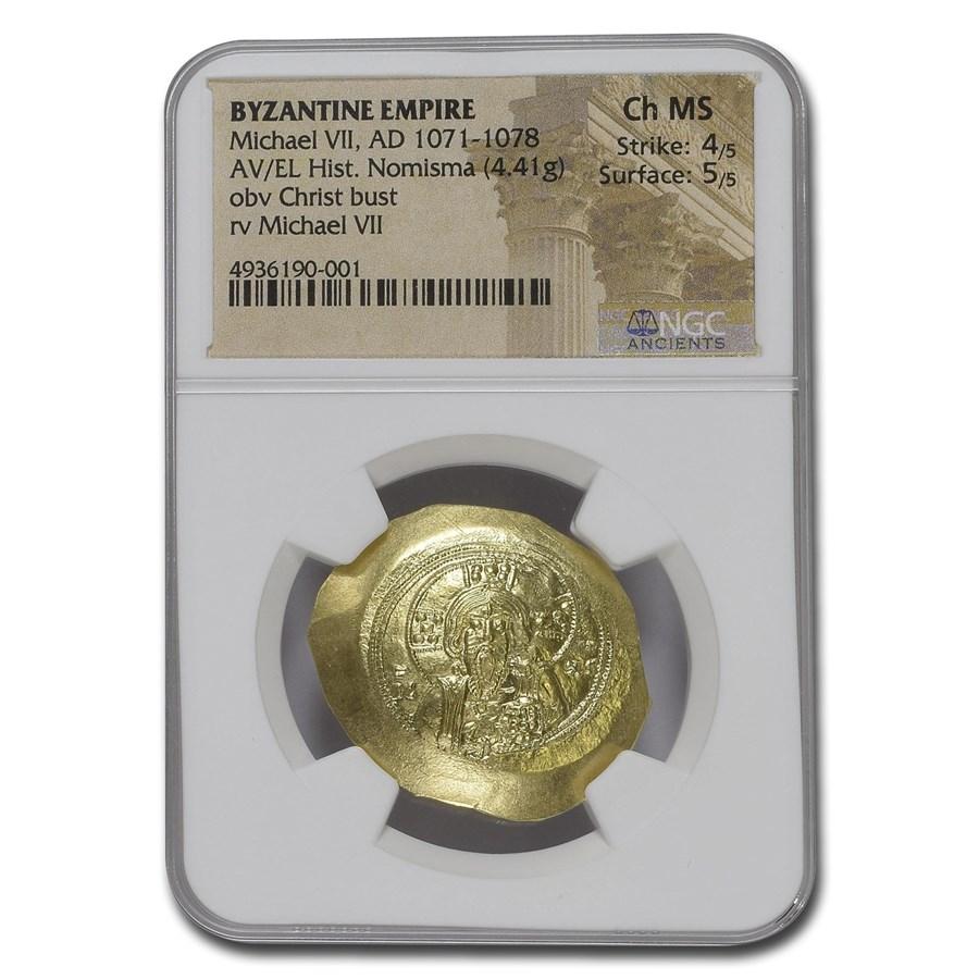 Byzantine Empire AV Hist Nom Michael VII (1071-1078 AD) Ch MS NGC