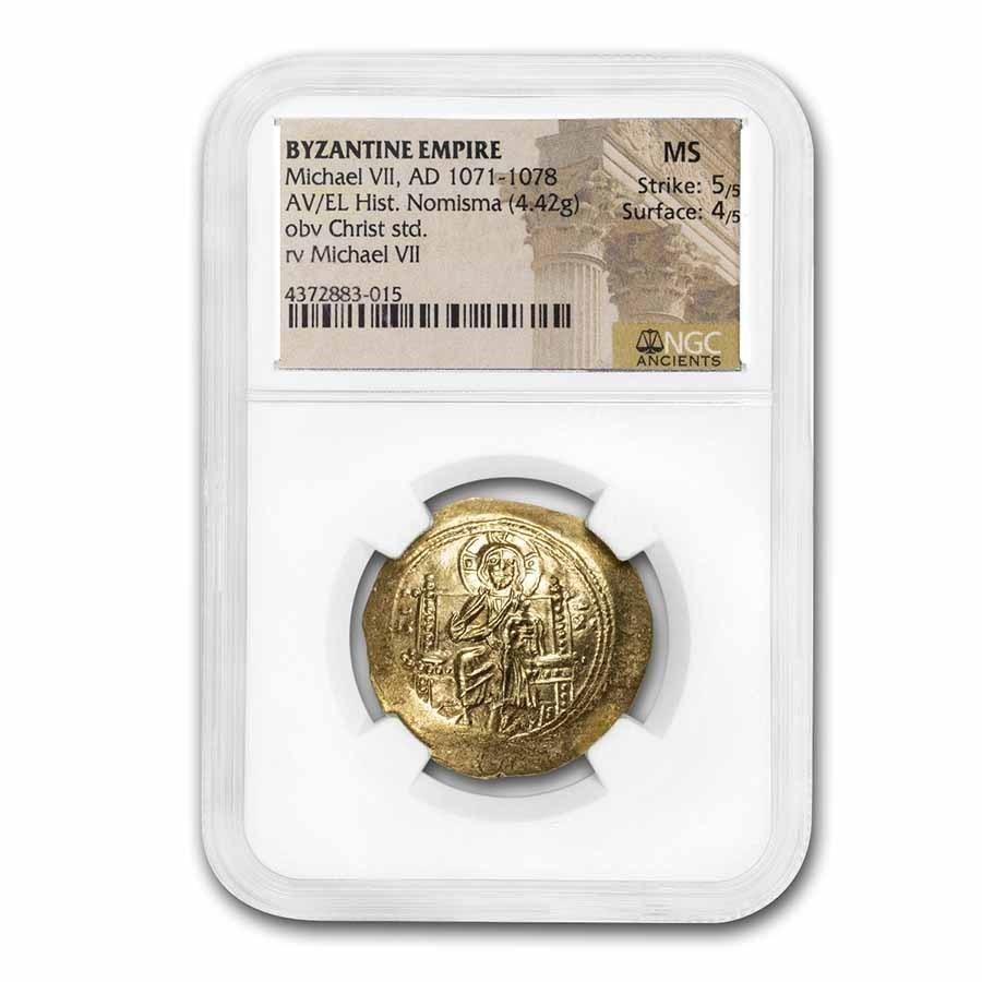 Byzantine Empire AV Hist Nom Michael VII (1071-1078 AD) MS NGC
