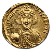 Byzantine Empire AV Solidus Justinian II (685-695 AD) Ch MS NGC