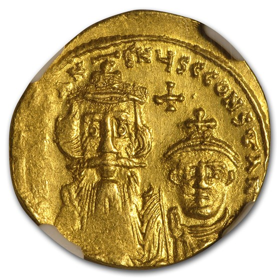 Byzantine Gold Constans II, Constantine IV (654-668 AD) MS NGC