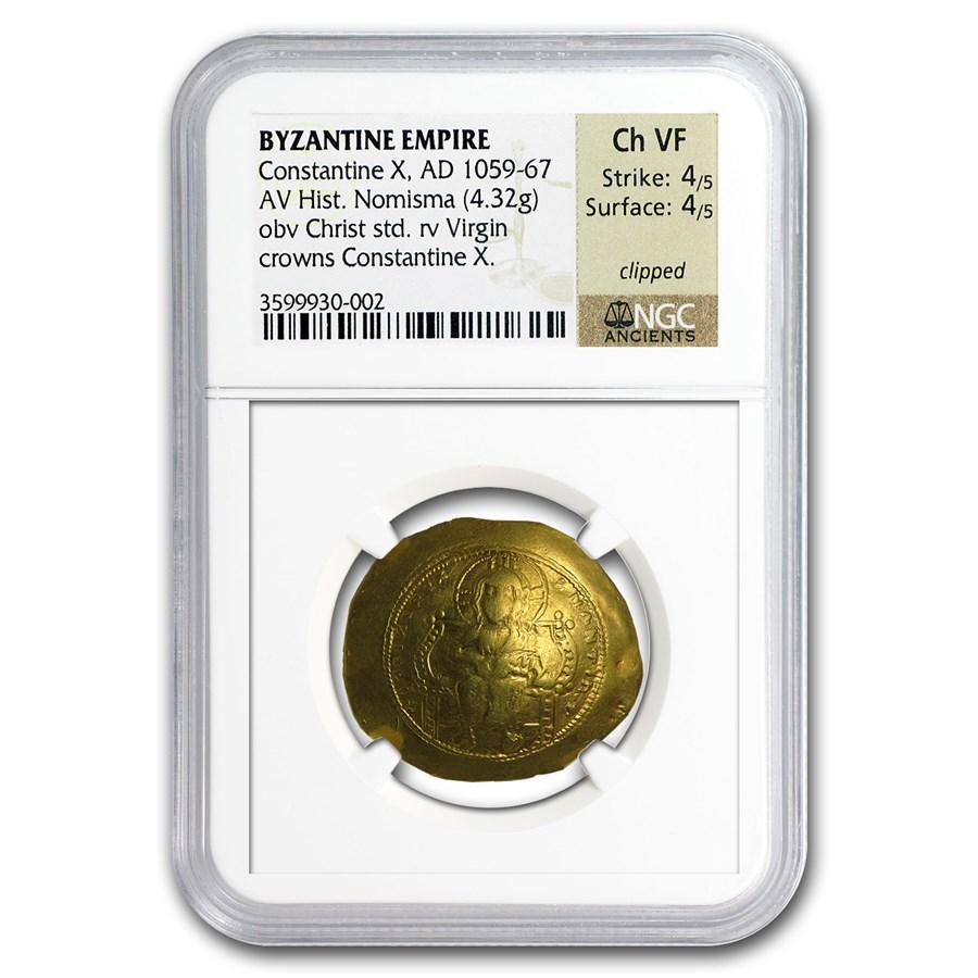 Byzantine Gold Emperor Constantine X (1059-1067 AD) CH VF NGC