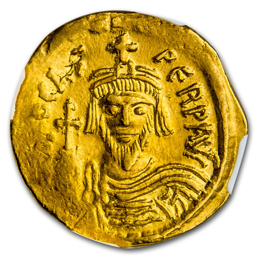 Byzantine Gold Emperor Phocas (602-610 AD) AU NGC