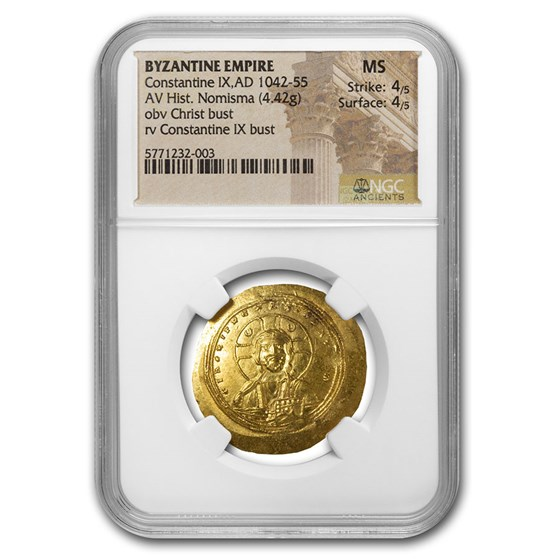Byzantine Gold Hist. Nomisma Constantine IX (1042-1055 AD) MS NGC