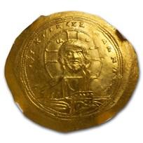 Byzantine Gold Histamenon Constantine IX (1042-1055 AD) Ch AU NGC