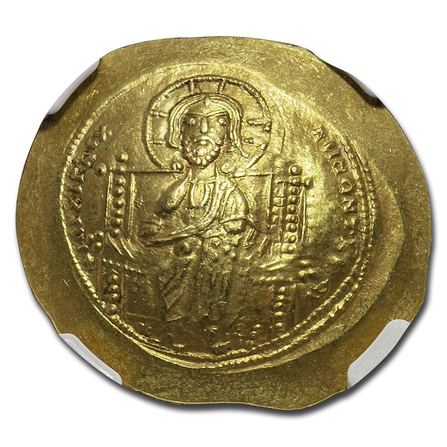 Byzantine Gold Histamenon Constantine X (1059-67 AD) Ch AU NGC