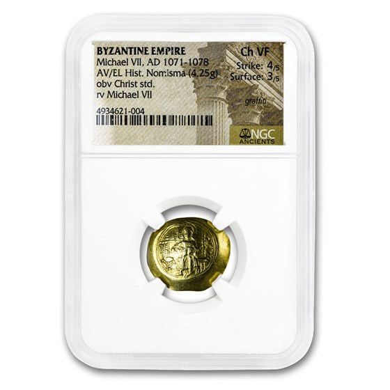 Byzantine Gold Histamenon Michael VII (1071-1078 AD) Ch VF NGC