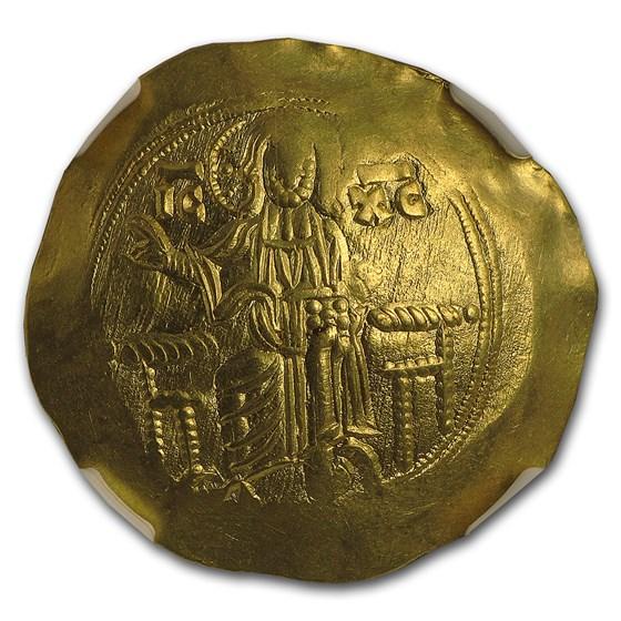 Byzantine Gold Hyperpyron John III Ducas (1221/2-1254 AD) AU NGC