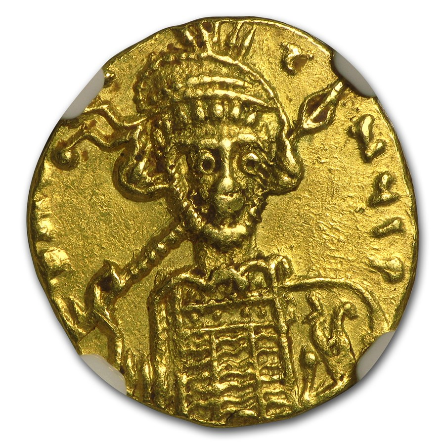 Byzantine Gold Solidus Emperor Constantine IV (668-685 AD) AU NGC