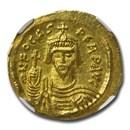 Byzantine Gold Solidus Emperor Phocas (602-610 AD) AU NGC