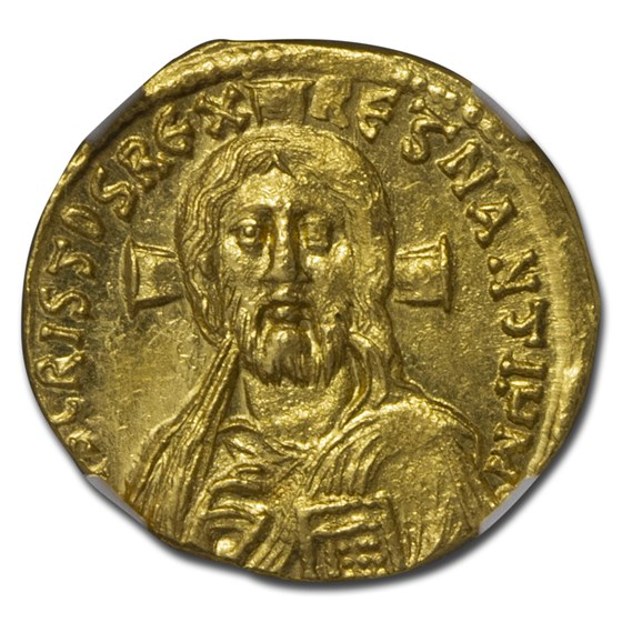 Byzantine Gold Solidus Justinian II (685-695 AD) MS NGC