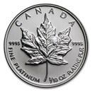 Canada 1/10 oz Platinum Maple Leaf BU (Random Year)