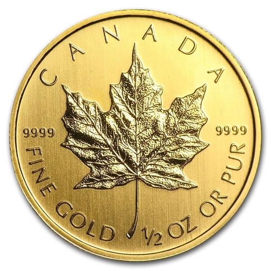 Canada 1/2 oz Gold Maple Leaf (Random Year)