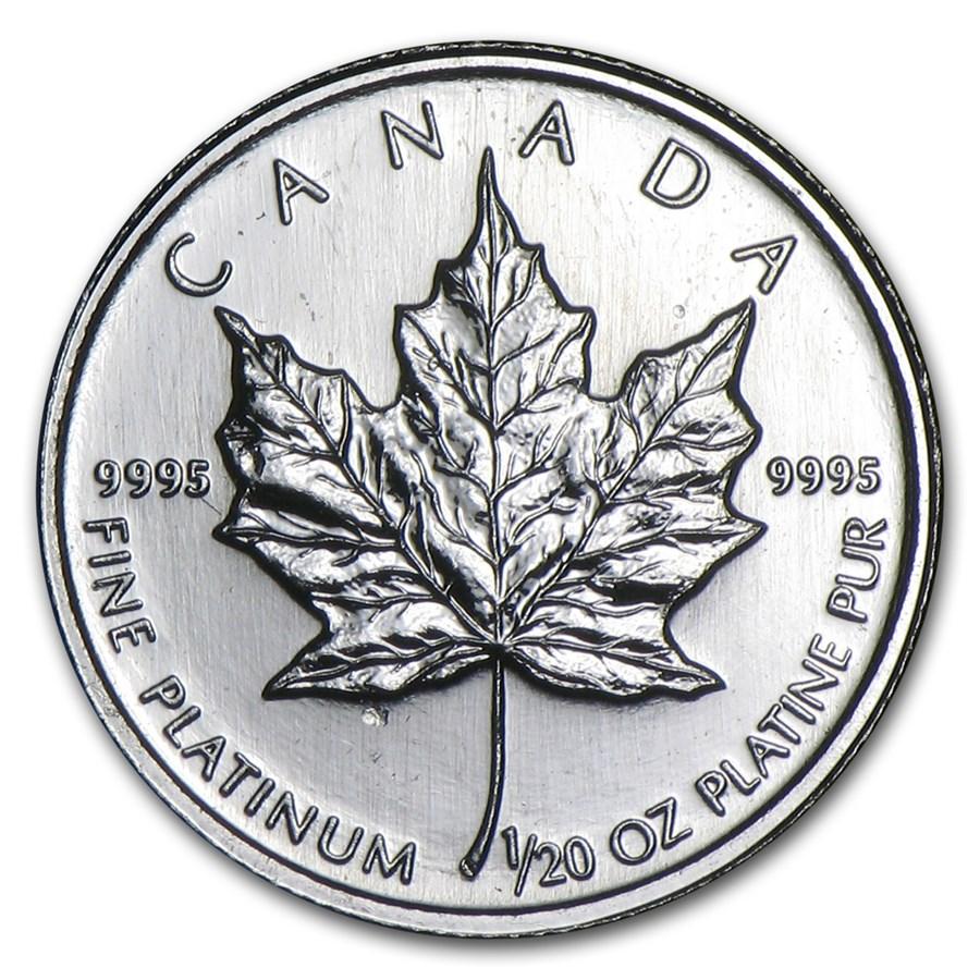 Canada 1/20 oz Platinum Maple Leaf BU (Random Year)