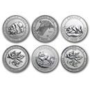 Canada 1.5 oz Silver $8 Wildlife BU (Random, Spotted/Abrasions)
