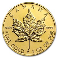 Canada 1 oz Gold Maple Leaf .9999 Fine BU (Random Year)