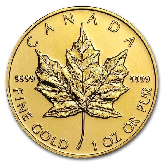 Canada 1 oz Gold Maple Leaf .9999 Fine BU (Random Year)